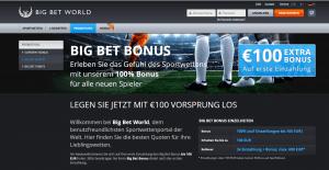 Der BigBet Bonus kann mit den besten der Wettbranche mithalten