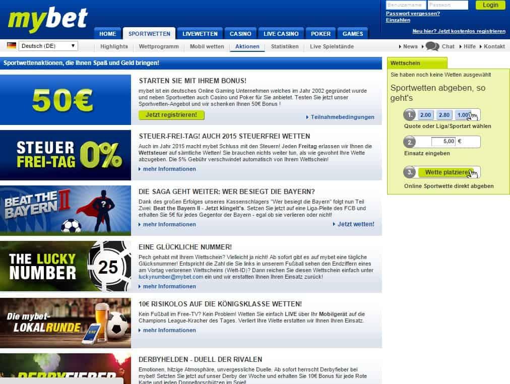 Mybet.Com Bonus