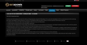 Betadonis Casino Freitags Bonus