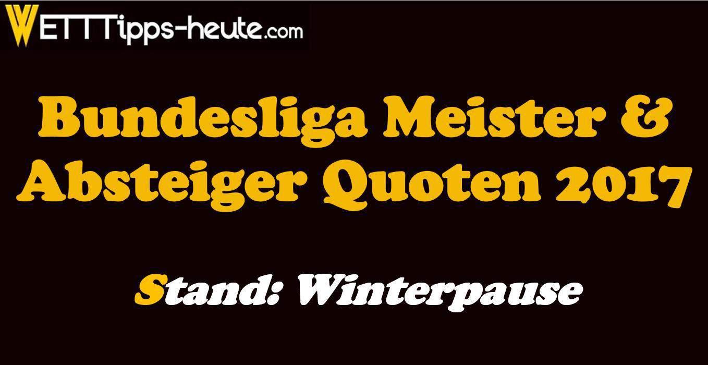 Bundesliga Meister Quoten