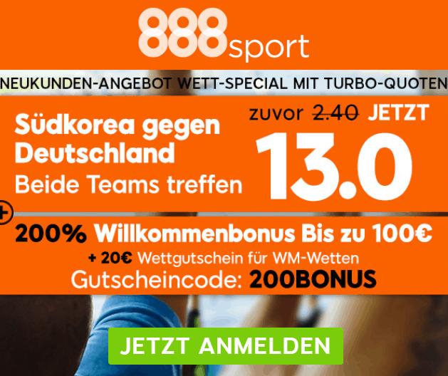 Deutschland Südkorea WM 2018 Bonus