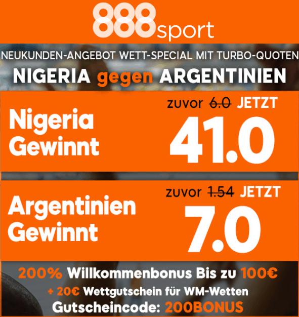Nigeria Argentinien WM Bonus