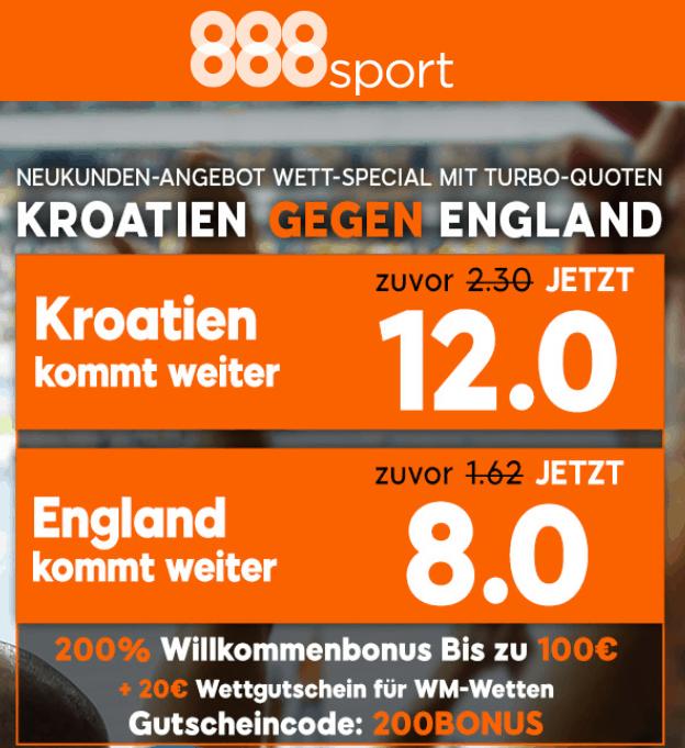 Kroatien England Sonderbonus WM Halbfinale