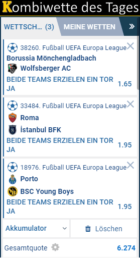 Europa League Acca 19.09.2019