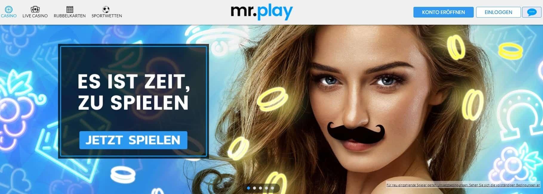 mr.play Registrierung