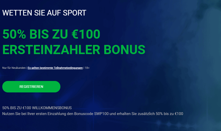 Bet90 100€ Bonus für Neukunden