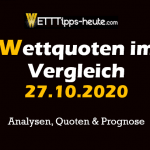 Analyse & Prognose 27.10.20