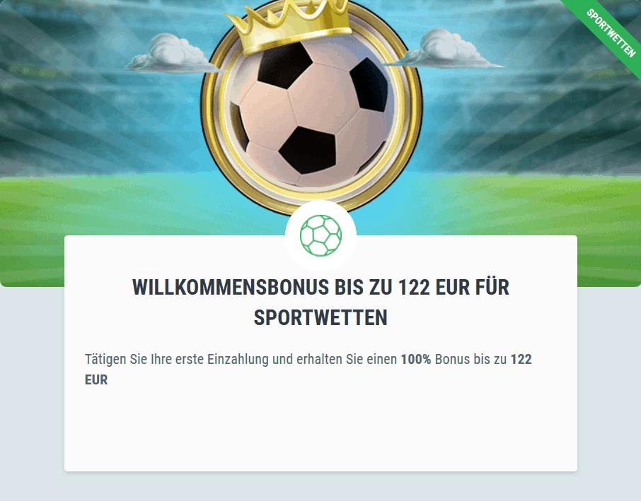 122€ Willkommensbonus Bet22