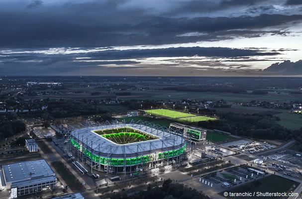 Borussia Park bei Nacht
