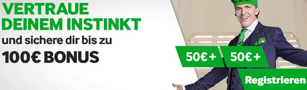 Betway 100€ Willkommensbonus