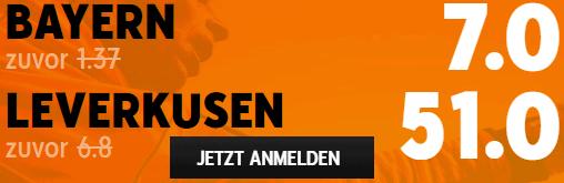 Beste Quote Bayern - Leverkusen 20.04.2021