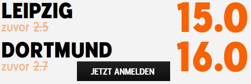 Beste Quote Leipzig - Dortmund 13.05.2021