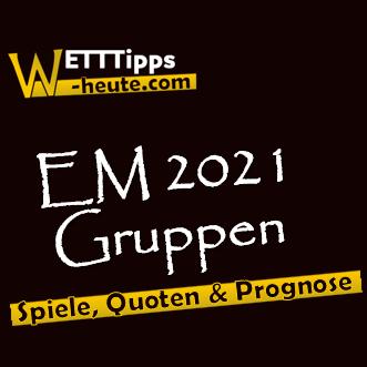 EURO 2021 Gruppen Vorhersage