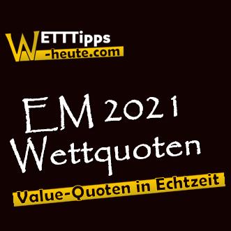 EM 2021 Quoten in Echtzeit vergleichen