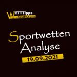Wett-Tipps & Quoten 19.09.2021